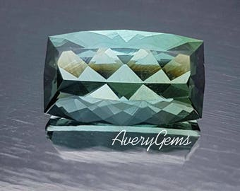 Tourmaline Neon Green 3 Ct Loose Gemstone Natural Ror Engagement Ring Tourmaline Ring Necklace Precious Gemstone Precision Cut By AveryGems