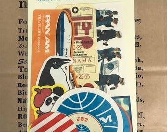 PAN AM x Traveler's Notebook Globe Logo Limited Sticker Set 82202006 Traveler's Factory Midori Designphil Rare Made in Japan New