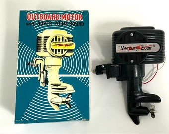Union Craft Toy Outboard motor Black  For display Old stock Rare from Japan Free shipping