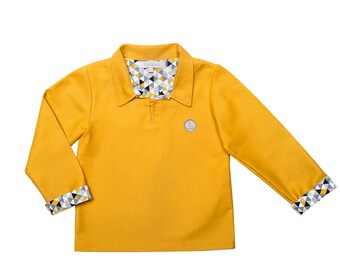 Mixed mustard jacket