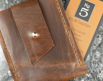 Leather Business Card Holder, Business Card Holder, Leather Credit Card Holder, Credit Card/Money Holder, Leather Wallet, Leather Card Case