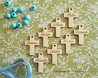Personalised wooden cross - Ribbon - craft supplies