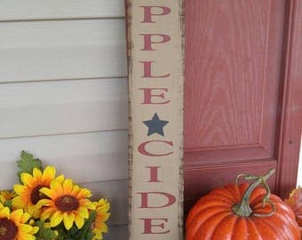 Apple Cider sign, Old Fashioned Apple Cider Sign, Fall sign, Fall decor, autumn sign, autumn decor, wood sign