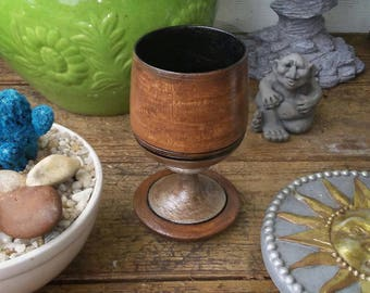 Hand Painted Chalice/ Wood Chalice/ Wood Goblet/ Altar Chalice