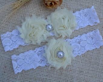 Ivory Garter Bridal, White Garter Set, Bridal Garter, Gift For Wedding, Gift For Brides, Lace Garter Set, Garter Set, Ivory Keep Garter