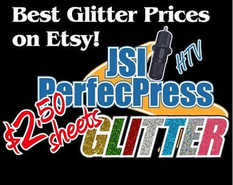 "Glitter HTV ""PerfecPress Brand"" Sheets 12"" x 10"""