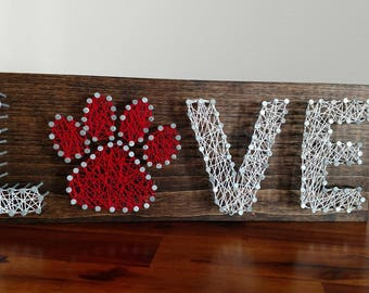 String Art - Puppy/Dog Love - Animal - Paw Print