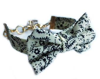Bow bracelet with gold-filled hook - Teresa - Women's bracelet - Friendship bracelet - Jewelry - Adjustable - Preppy