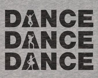"""Plotterfile """"Dance"""" for shirts [DXF, SVG]"""