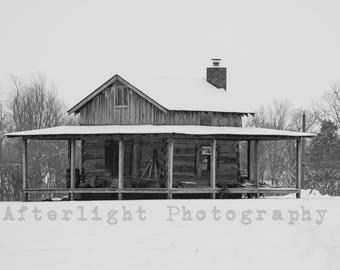 Winter Photography, Country Cabin, Winter Wall Art, Winter Wonderland,