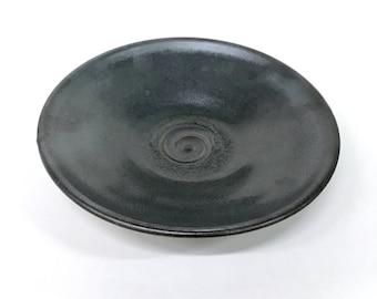 Metallic grey platter set of two