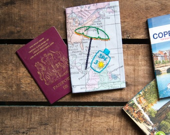 Embroidered passport cover *sale*