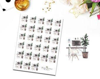 Work/Study Planner Stickers for Erin Condren Life Planner/Functional Sticker Set/Happy Planner Sticker Kit/Horizontal Stickers/Icons