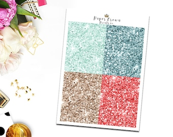 HOLLY JOLLY Glitter headers/Stickers for Erin Condren/Happy Planner/Personal Planner /Weekly Kit/Header Kit