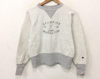 Rare! Vintage CHAMPION Baseball Club Sweatshirt Large Size