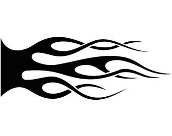 Fire Decal #5 Hot Rod Flames Automotive Car Motorcycle Pin Striping Speed Power Design Element .SVG .EPS .PNG Clipart Vector Cut Cutting
