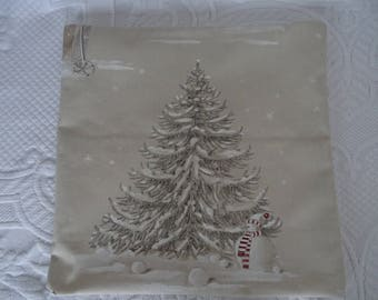 Cushion cover pattern snow