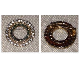 Anniversary Sale Beautiful Vintage Rhinestone Circular Pin