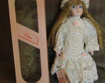 """1988 The Heritage Mint """"Tina"""" Collectible Doll"""