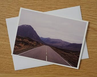 Scottish Landscapes Greetings Card - A6 - Road through Glencoe - Blank Card - Any occasion