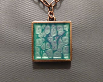 resin square pendant