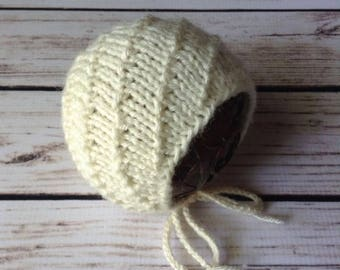 Newborn Bonnet Prop Pattern, Knit Bonnet Pattern, Knit Pattern, Sitter Bonnet Pattern, Prop Pattern, Baby Bonnet Pattern