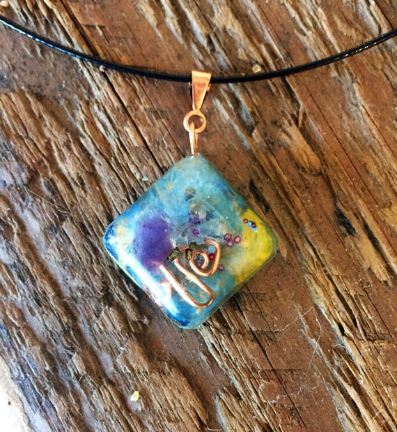 Phoenix feather orgone energy Pendant- Starseed Necklace- Genetic Memory Crystal Energy Orgonite®- Akashic Records Crystal Orgonite®