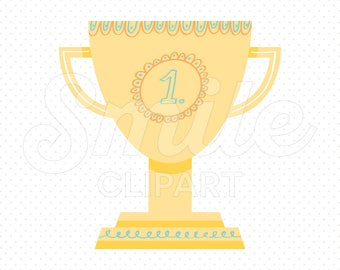 GOLD TROPHY Clipart Illustration for Commercial Use | 0084