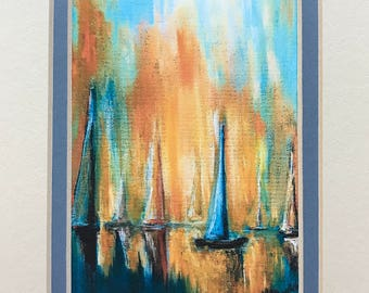 The Boats Matted Print