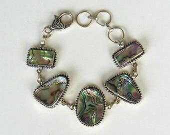 Glamorous Abalone Shell Bracelet