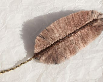 Lush parakeet: Feather textile jewelry, jewelry bags, accessories, decoration...