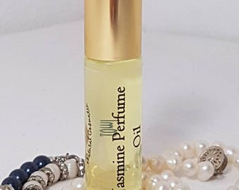 JASMINE Roll-On Perfume, Perfume Oil 10ml, Vegan, Natural, Alcohol Free