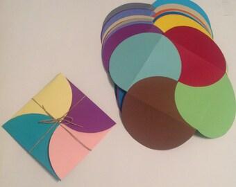 Multicolored Square Envelope