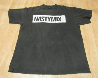 Vintage Nasty Mix Records shirt Sir Mix a lot 90s XL