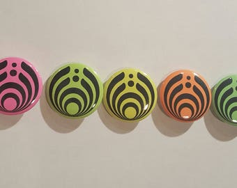 Bassnectar neon 1 inch Buttons (5 pack)
