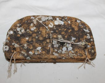 Vintage fishing net float Vintage Antique covered with shell