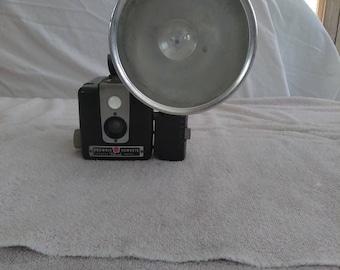 Antique Kodak Brownie Hawkeye with Flash Camera