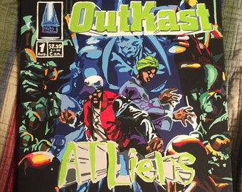 Atliens Album Cover Painting