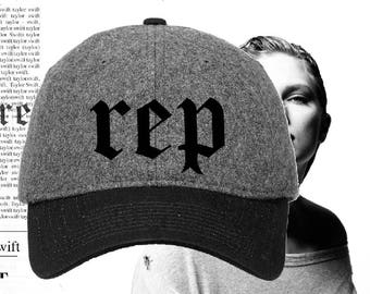 Taylor Swift Rep Hat - Reputation Hat - Reputation Replica Wool Cap - Rep Replica Hat - Rep Taylor Swift Hat - Gift for Taylor Swift Fan