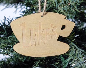 Gilmore Girls Luke's Diner Christmas Ornament // Party Favor // Celebrate your love for everything Stars Hollow