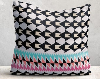 Geometric Cushion, Soft Cushion, Contemporary Cushion, Abstract Cushion, Tribal Cushion, Pattern Cushion, Aztec Cushion, Statement Cushion