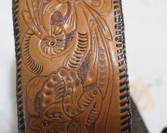 Vintage Tooled Stirrup Leather Purse Handbag