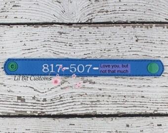 Safety Phone Number Bracelet