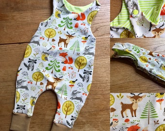 White Dungarees forest animals in 50 to 74
