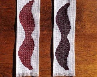 Mustache Bookmarks