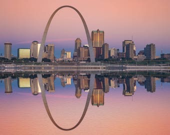 St Louis Skyline, St Louis Missouri Canvas, St Louis skyline, St Louis Wall canvas, St Louis Arch wall art, St Louis decor, Texas canvas