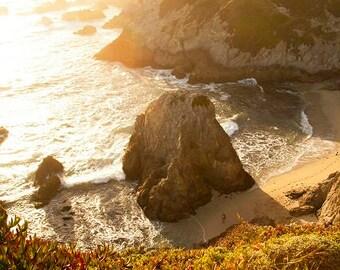 Bodega Bay Headlands: WALL ART Fine Art Nature Photography Rugged California Coastline Ocean Beach Landscape Natural Golden Light Sunset