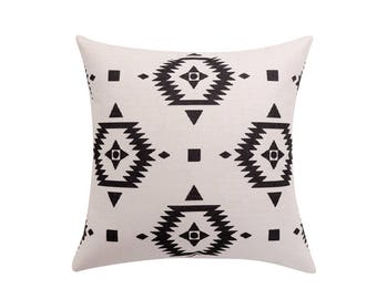Aztec pillow covers Tribal throw pillow covers Ethnic decorative pillow cases Geometric cushion cover Sofa home decor Gift 18x18 20x20 22x22