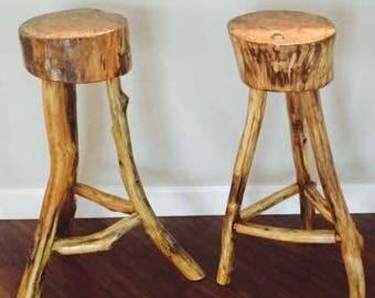 Natural Maple Wood Series Barstools