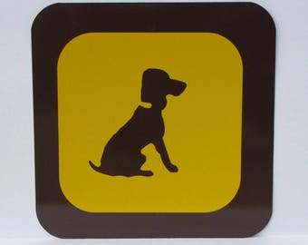 "Nostalgic Provincial Park / State sign - 12"" square - New Old Stock - Never Installed - DOG / PET AREA - Free Shipping"